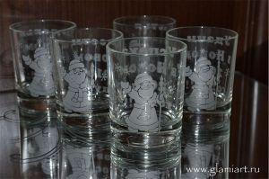 Подарочные бокалы с рисунками