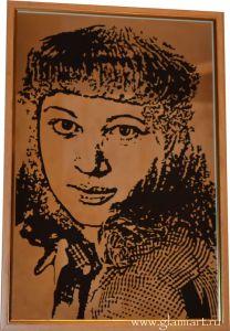 Портрет на зеркале, техника рисунок, покраска