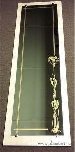 Декорирование зеркала в шкаф, пескоструй, покраска