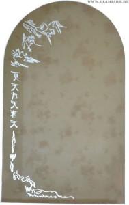 Зеркало с орнаментом Япония