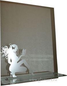 Зеркало с матовым рисунком Glamiart