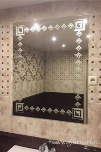 Зеркало в ванную Ромб