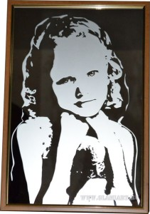 Портрет на зеркале, техника рисунок, химическое матирование
