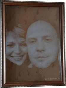 Портрет на зеркале Пара, гравюра