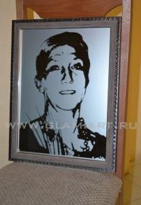 Портрет на зеркале по фотографии, Glamiart