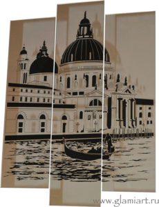 Модульная картина на зеркале Венеция
