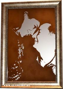 Картина на зеркале Love story