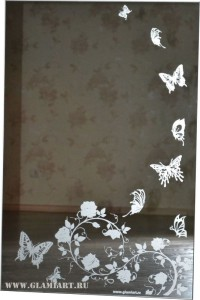 Зеркало Бабочки, розы