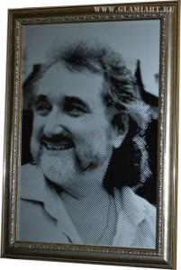 Портрет по фото на зеркале, гравюра