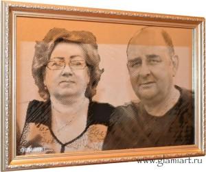 Портрет на зеркале Годовщина Свадьбы. Гравюра