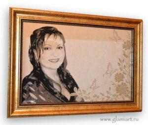 Портрет на серебряном зеркале Девушка