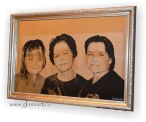 Портрет на зеркале Мама и Дочки