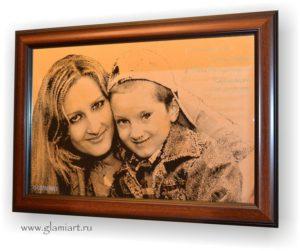 Портрет на зеркале Мама и Сынок