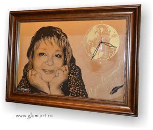 Портрет на зеркале Учительница. Гравюра