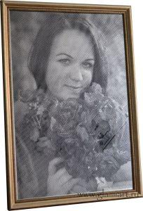 Гравюра на зеркале, портрет по фото