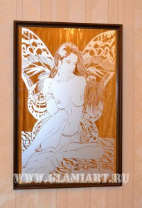 Картина на зеркале Фея
