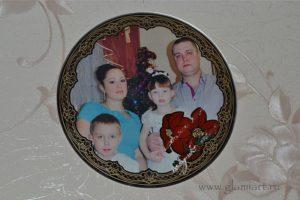 Фоторамка на зеркале Любимой маме...