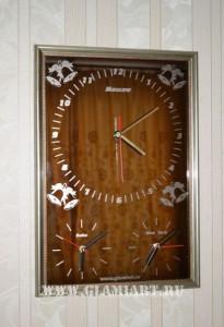 Часы на бронзовом зеркале - подарок руководителю