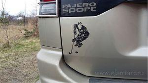 Наклейка-хоккеист
