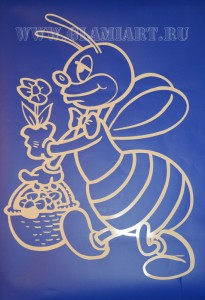 Трафарет пчела