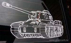 Автомобильная наклейка Т-34