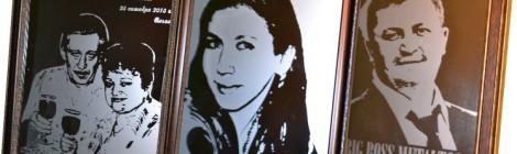 Портрет по фото на зеркале