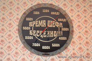 Настенные часы на зеркале графит