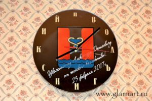Настенные часы на зеркале Вольгинский