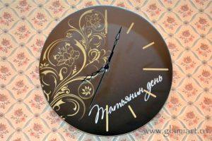 Часы на серебряном зеркале Татьянин День