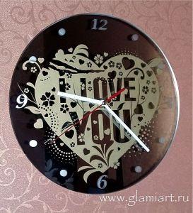 Часы на зеркале Glamiart, покраска, матирование