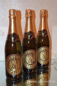 Бутылки шампанского Ночная Лига