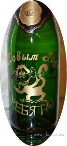 Красивый рисунок на бутылке