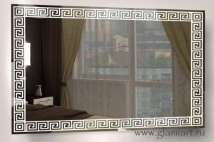 Зеркало с подсветкой Версаче