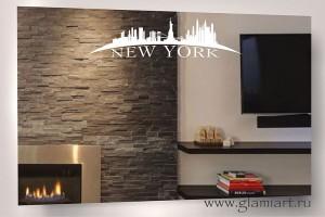 Зеркало с подсветкой Нью-Йорк