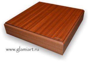Алкогольные крестики нолики - ящик из красного дерева