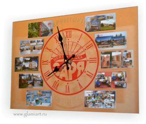 Фоторамка-часы на зеркале Заря