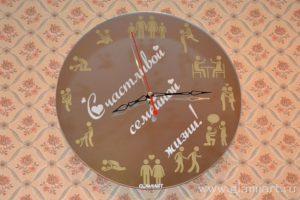 Часы на зеркале Семейные