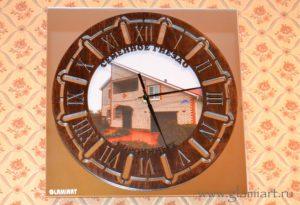 Часы настенные зеркало - фото-лазерная резка