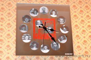 Часы настенные на зеркале Кожаный мяч
