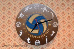 Часы на зеркале Волейбол