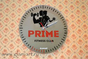 Часы на серебряном зеркале PRIME